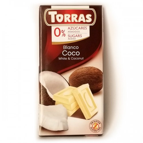 "Білий шоколад ""Torras chocolate blanco con coco"", 75 г"
