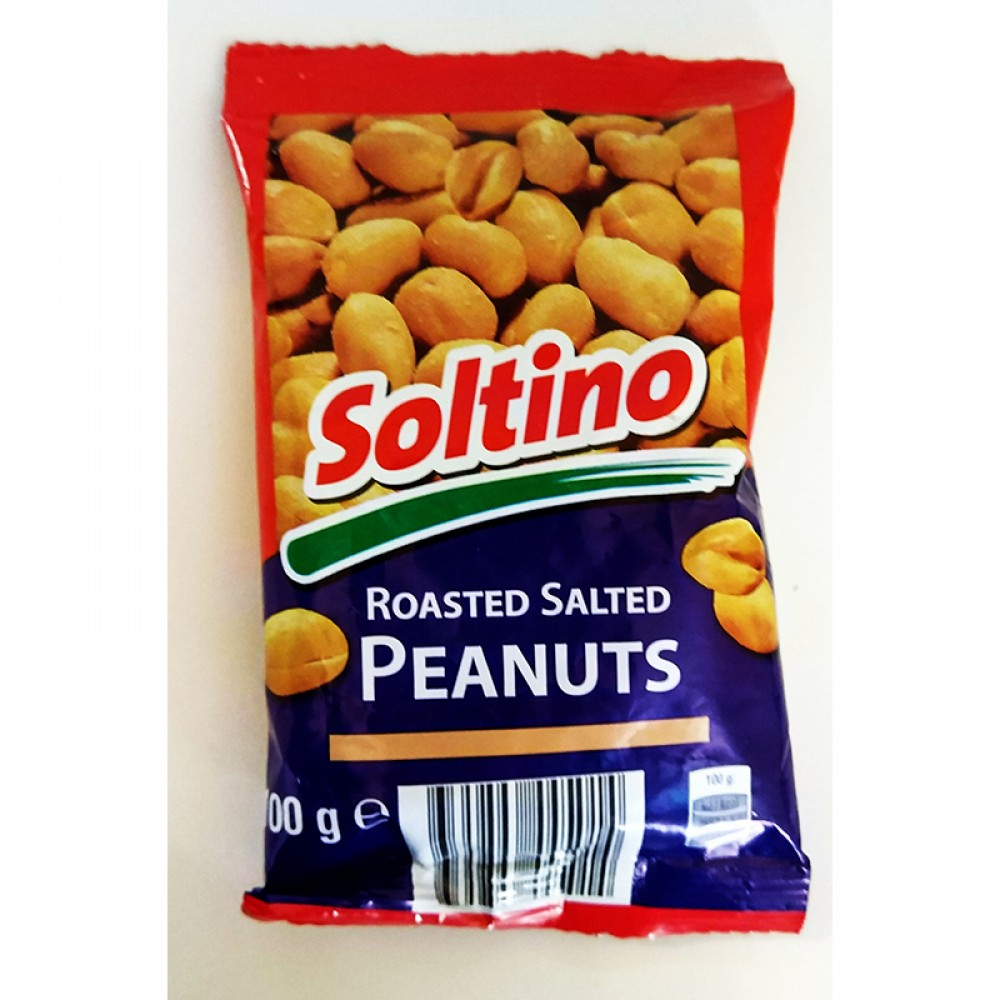 """Горішки """"Peanuts Roasted Salted Soltino"""" 100 г"""