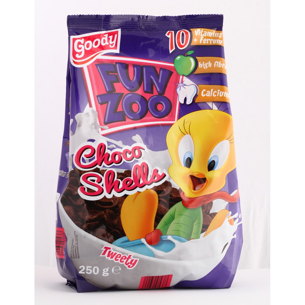 "Мюслі""Fun zoo choco shells""250грм"