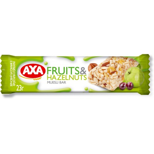 "Батончик ""AXA fruits & hazelnuts cereal bar"""