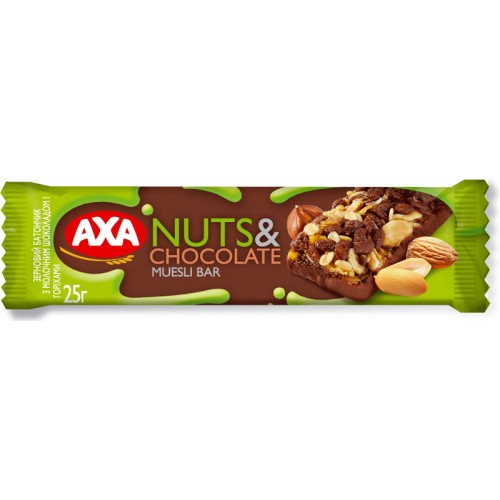 "Батончик ""AXA chocolate & nut cereal bar"""