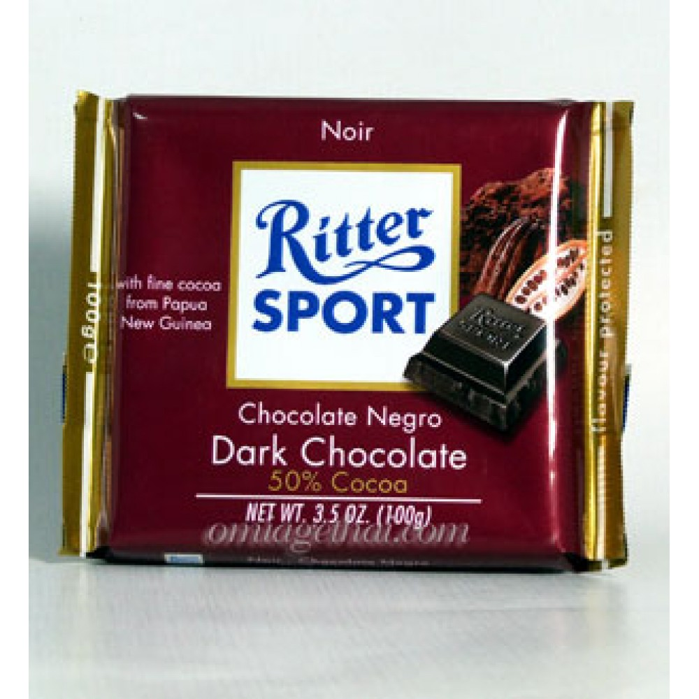 "Шоколад""Ritter Sport Chocolate Negro Dark Chocolate  50% cocoa ""100 грм"